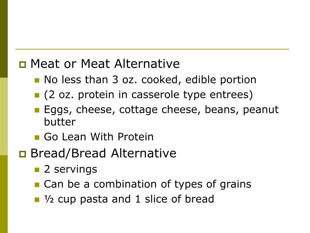 Meat or Meat Alternative