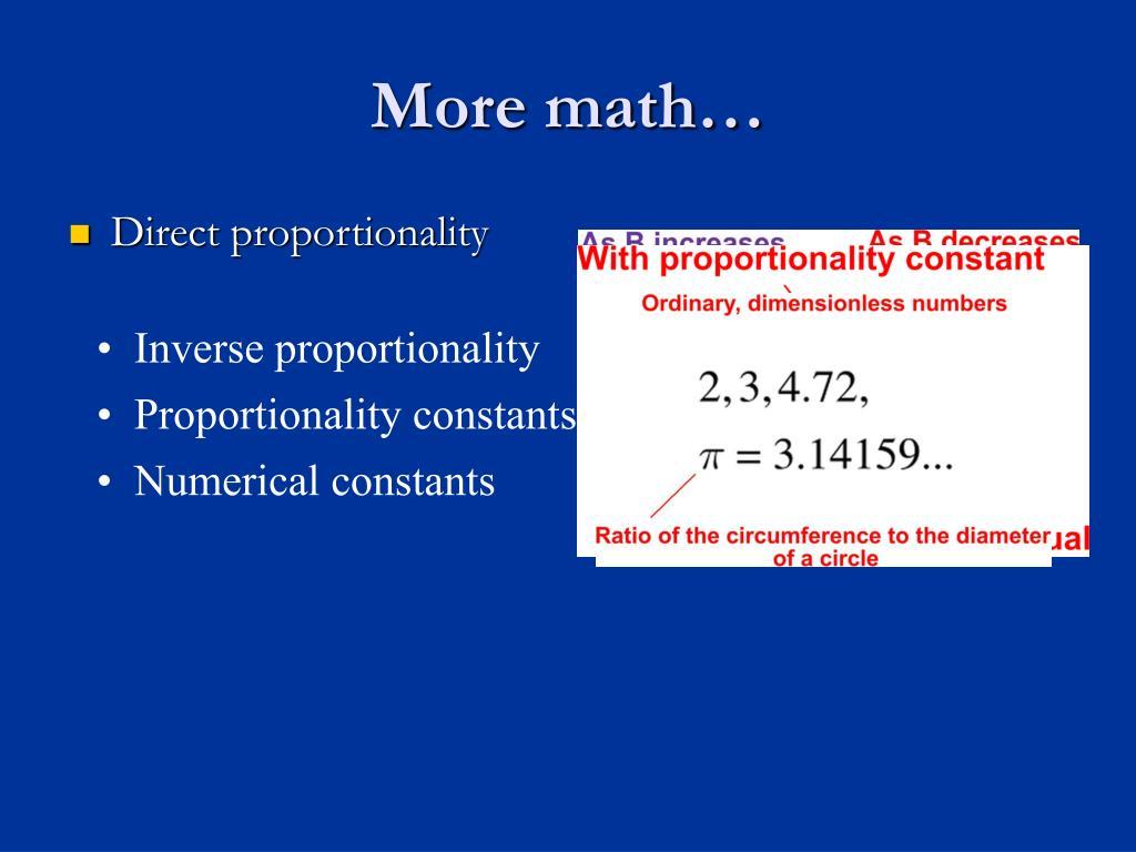 More math…
