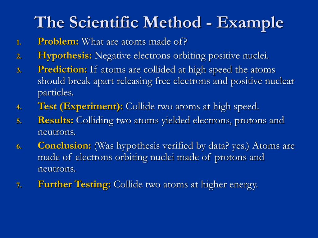 The Scientific Method - Example