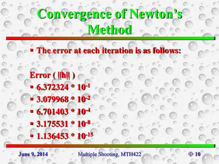Convergence of Newton's Method