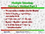 multiple shooting newton s method part 3