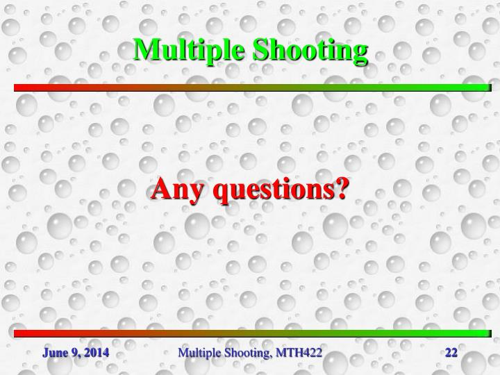 Multiple Shooting