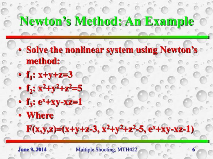 Newton's Method: An Example