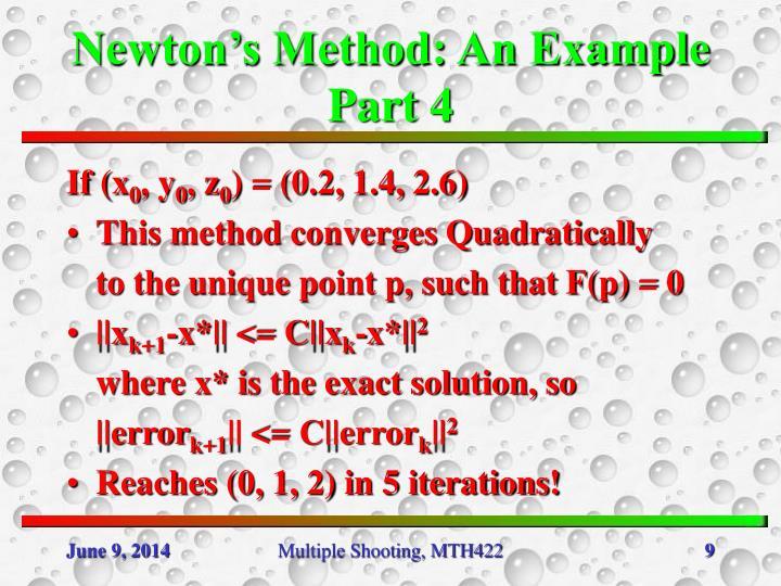 Newton's Method: An Example Part 4