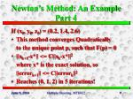newton s method an example part 4