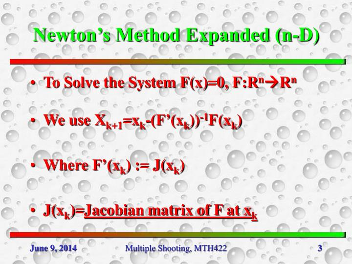 Newton's Method Expanded (n-D)