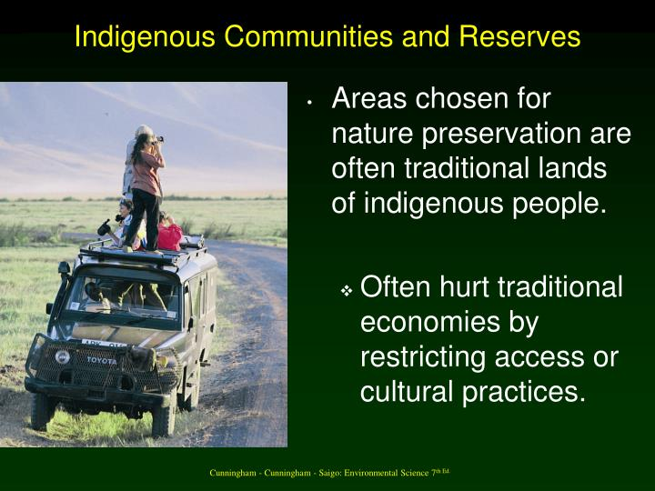 Indigenous Communities and Reserves