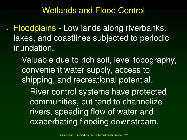 Wetlands and Flood Control