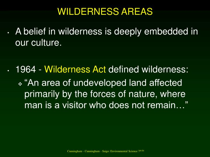 WILDERNESS AREAS