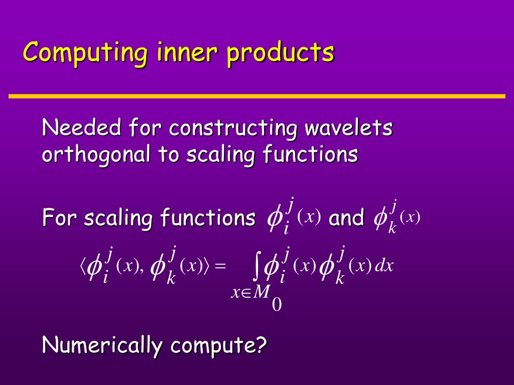 Computing inner products