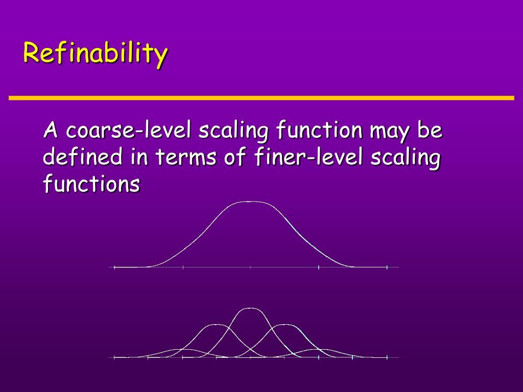 Refinability