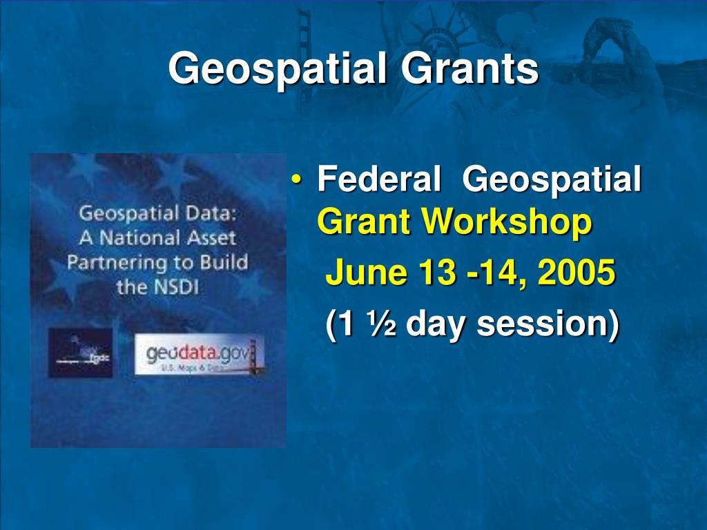 Geospatial Grants