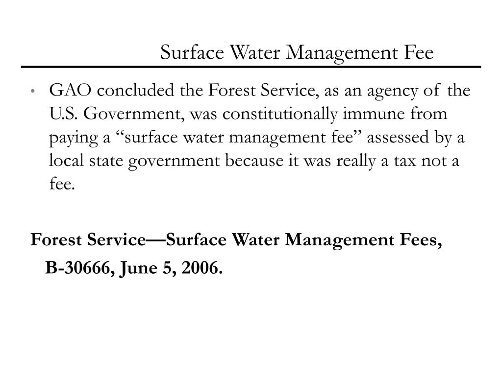 Surface Water Management Fee