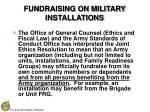 fundraising on military installations