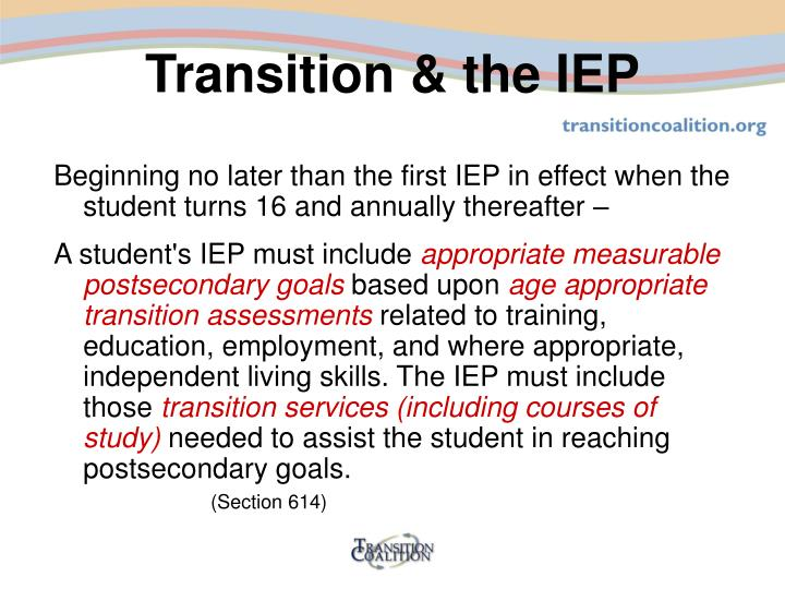 Transition the iep