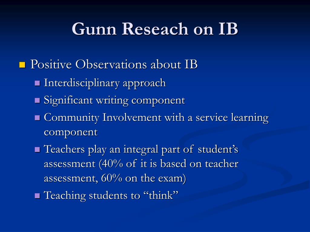Gunn Reseach on IB