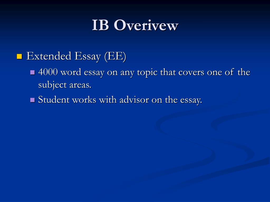 IB Overivew