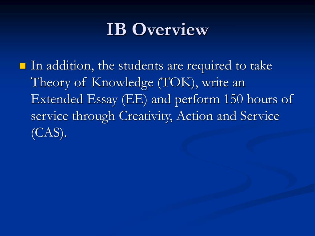 IB Overview