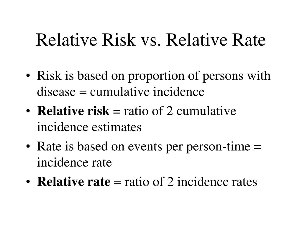 Relative Risk vs. Relative Rate