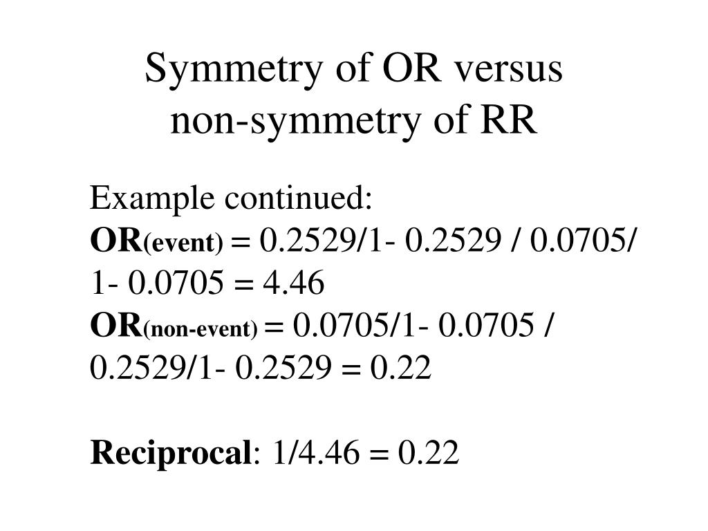 Symmetry of OR versus