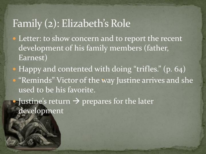 Family (2): Elizabeth's Role
