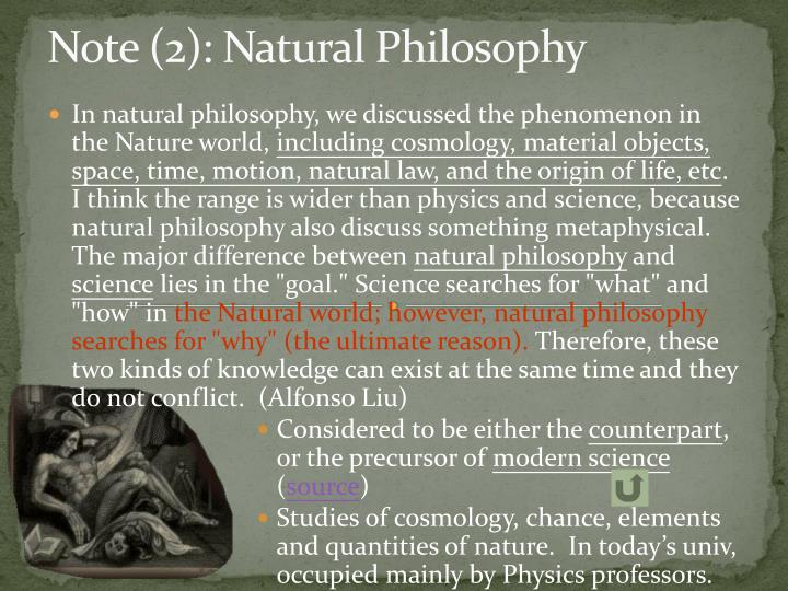 Note (2): Natural Philosophy