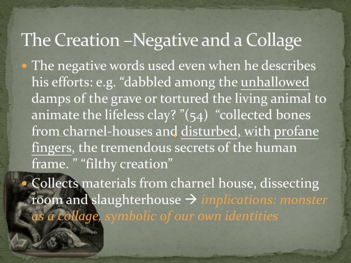The Creation –Negative and a Collage
