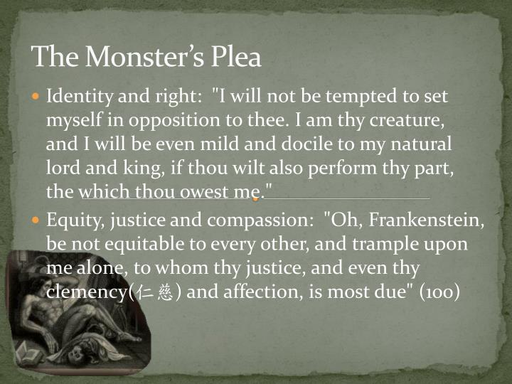 The Monster's Plea