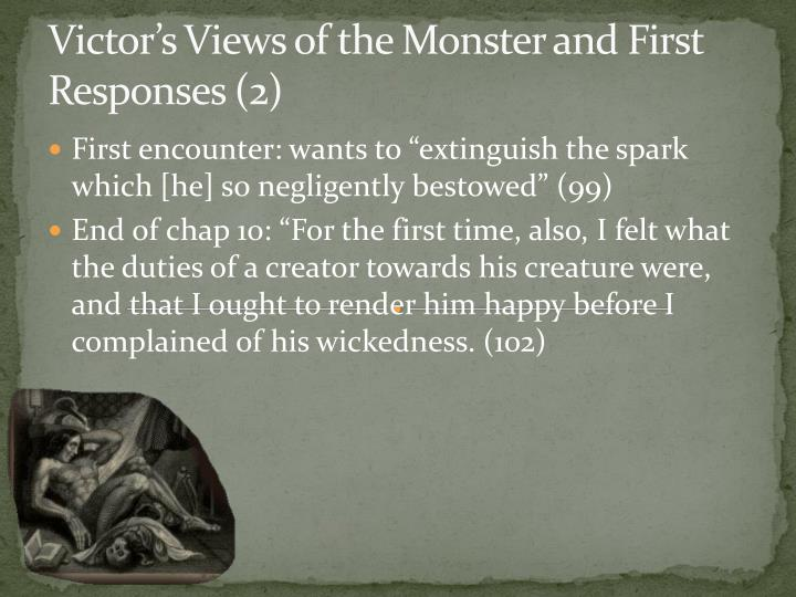 Victor's Views of the Monster and First Responses (2)