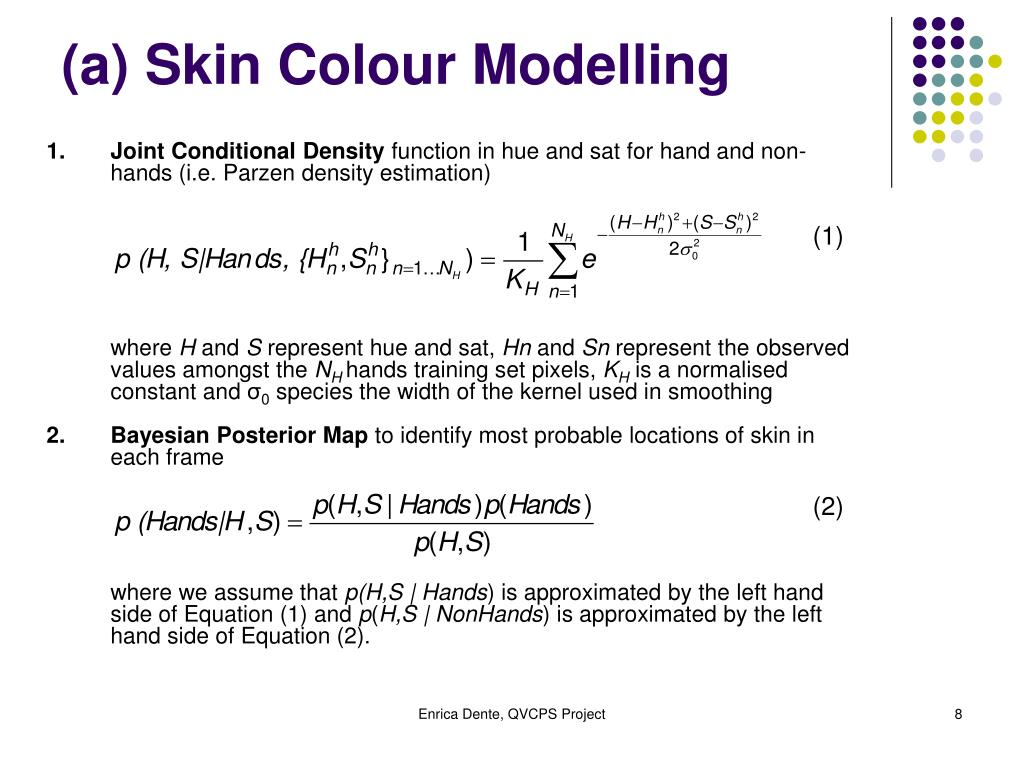 (a) Skin Colour Modelling