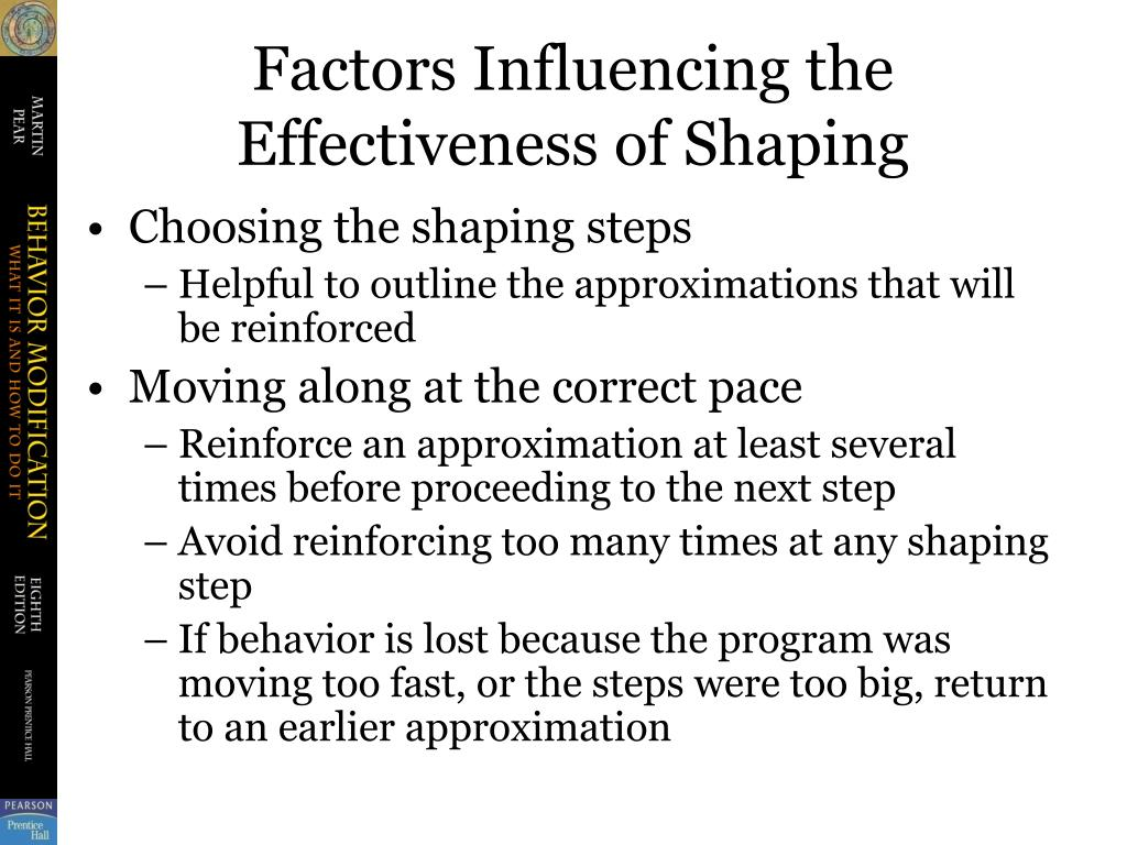 Factors Influencing the Effectiveness of Shaping