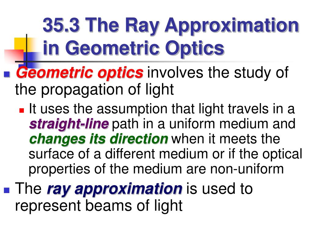 35.3 The Ray Approximation in Geometric Optics