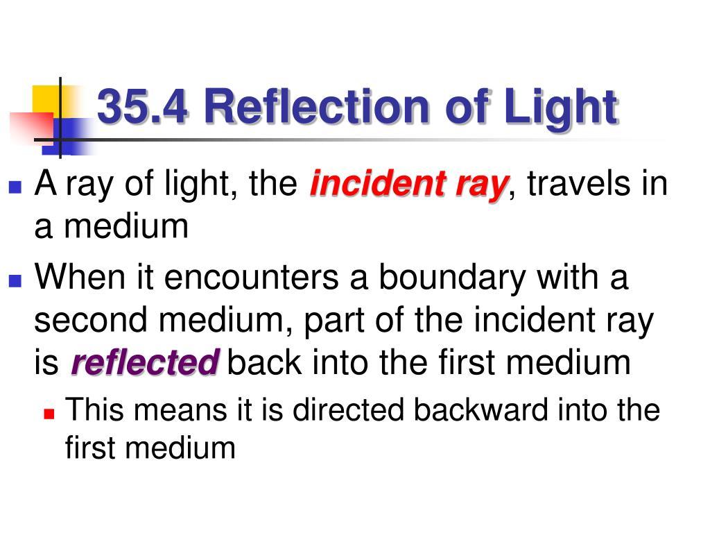 35.4 Reflection of Light