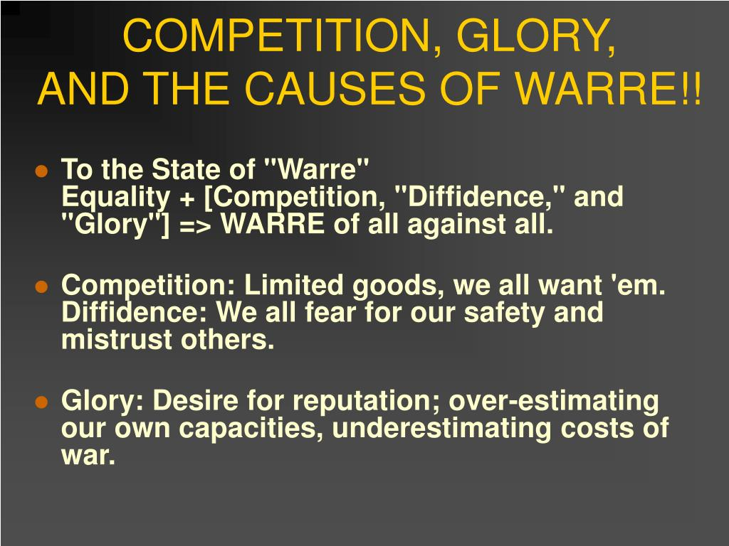 COMPETITION, GLORY,