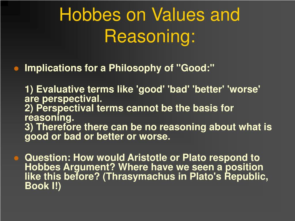 Hobbes on Values and Reasoning: