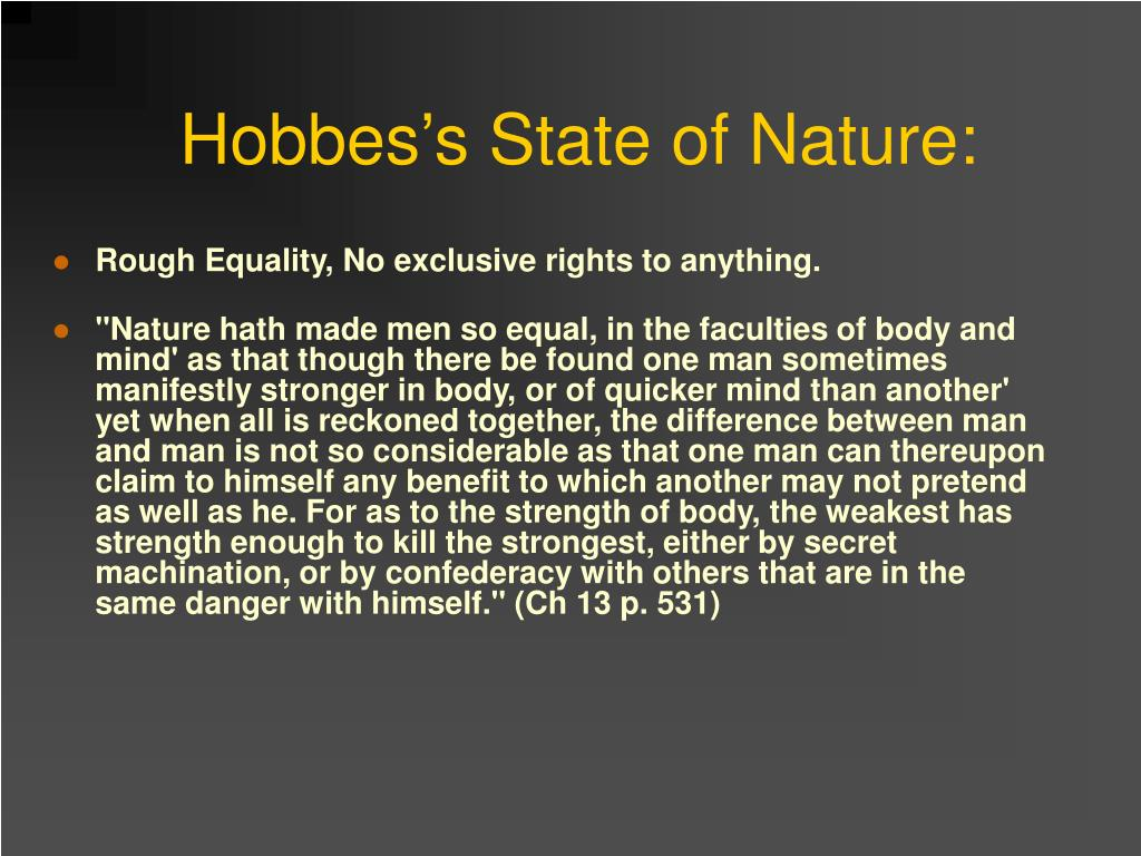 Hobbes's State of Nature: