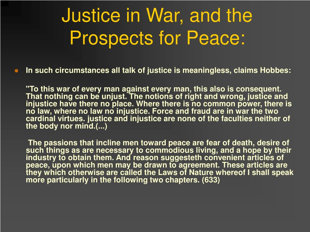 Justice in War, and the