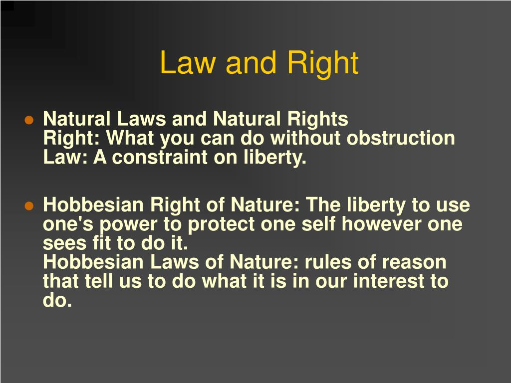 Law and Right
