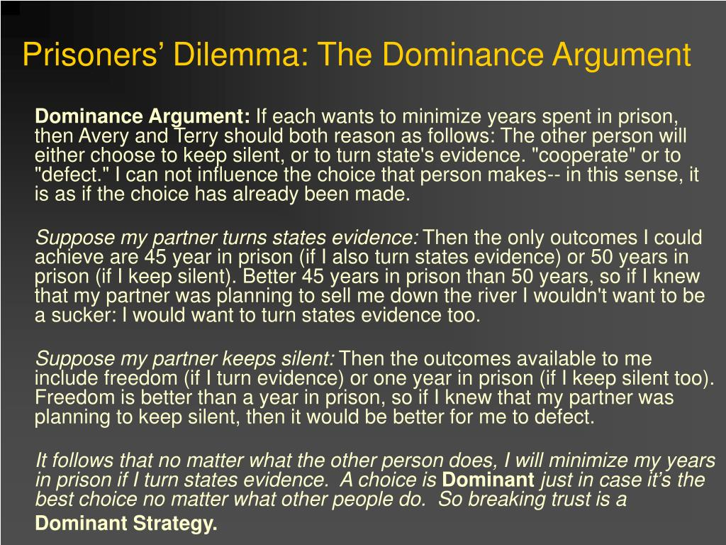 Dominance Argument: