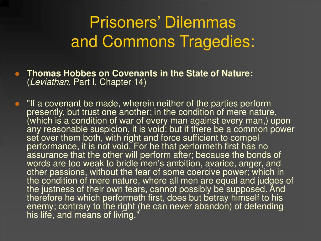 Prisoners' Dilemmas