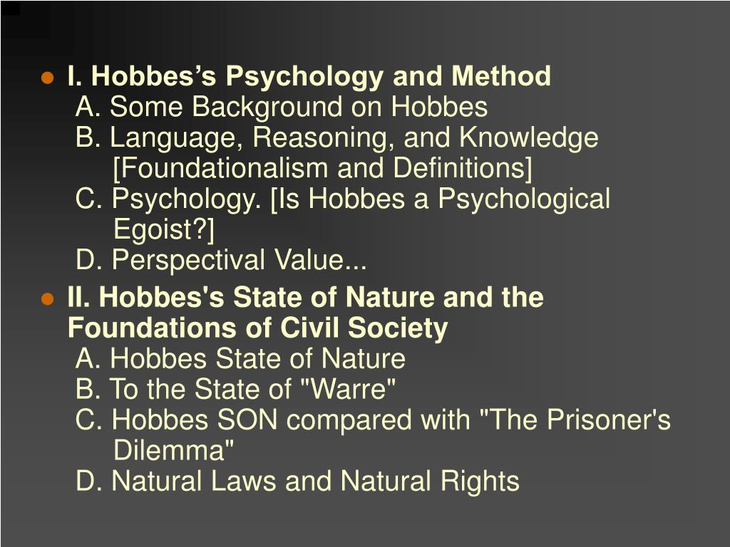I. Hobbes's Psychology and Method