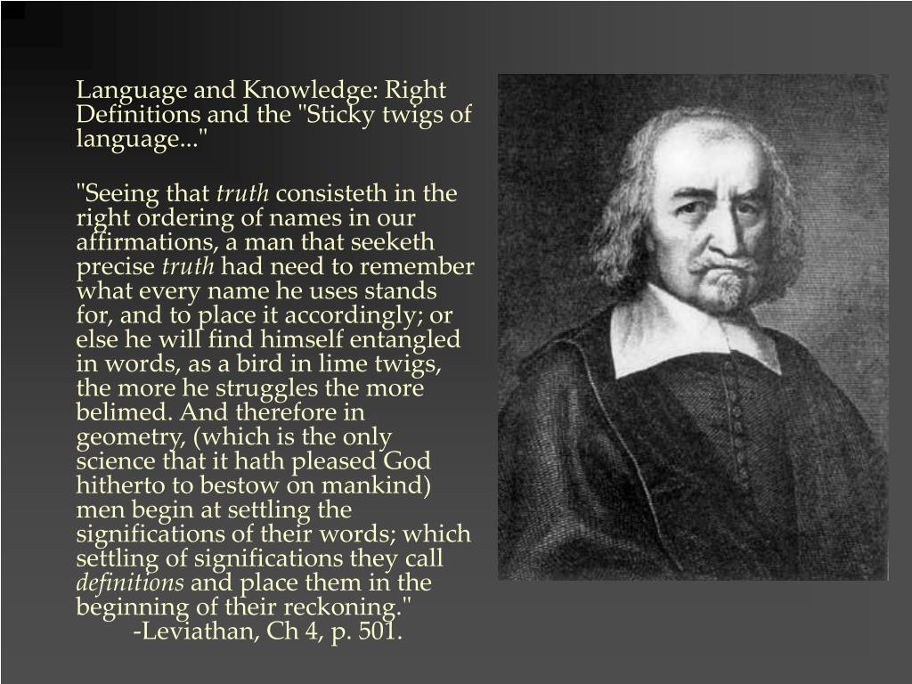 "Language and Knowledge: Right Definitions and the ""Sticky twigs of language..."""
