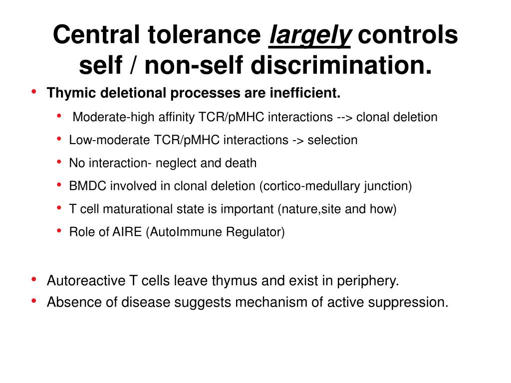 Central tolerance