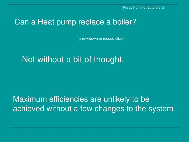 Can a heat pump replace a boiler