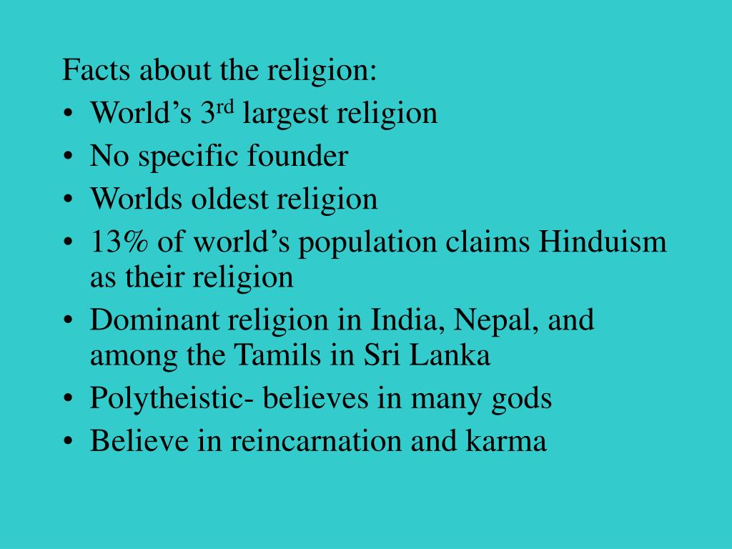 Facts about the religion: