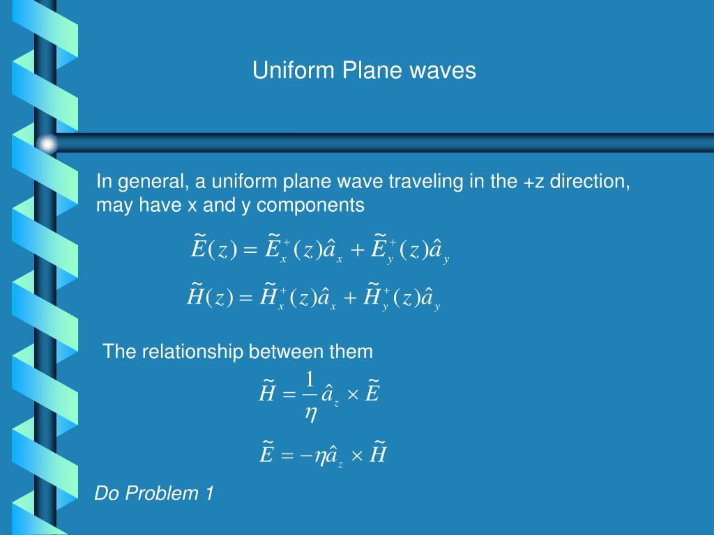 Uniform Plane waves