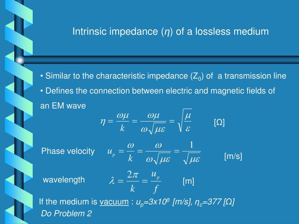 Intrinsic impedance (