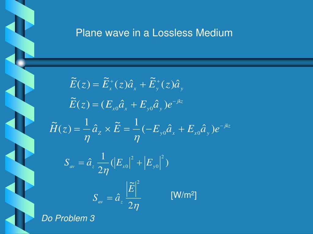 Plane wave in a Lossless Medium