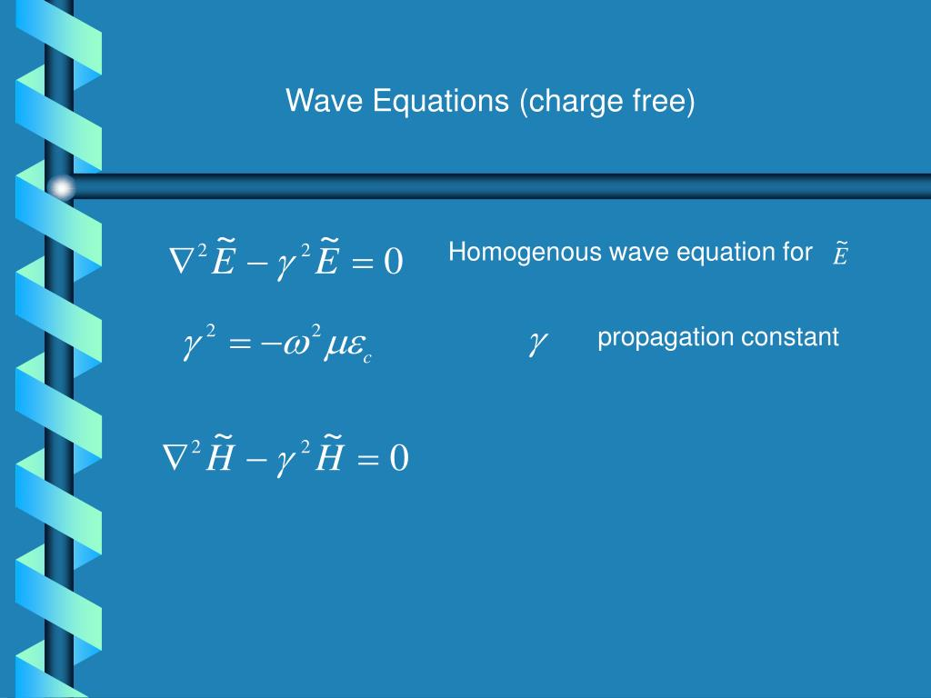 Wave Equations (charge free)