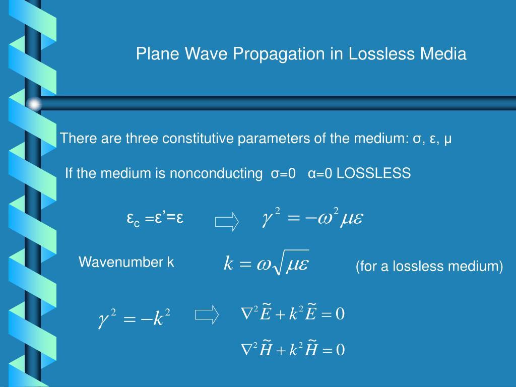 Plane Wave Propagation in Lossless Media